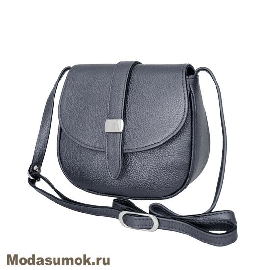 5da997a3206d Женская сумка из натуральной кожи Protege Ц-352 серый металлик ...