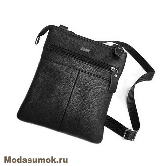 93fddbdc27ba Мужская сумка через плечо из натуральной кожи BB1 940082 чёрная ...
