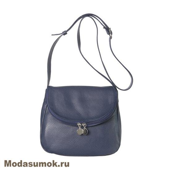 559d5afb9aa9 Женская сумка из натуральной кожи Protege Ц-258 синяя купить в ...